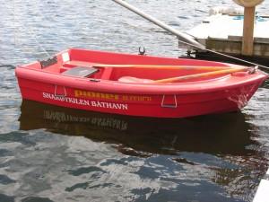 Joller til disposisjon for enkel tilgang til båter i bøye
