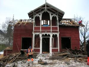 Februar 2005 - demontering startet