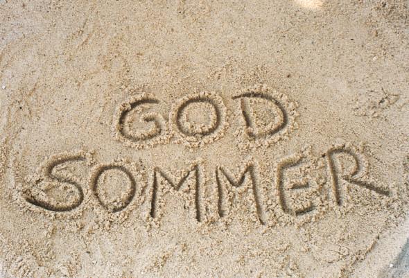 God sommer i sand