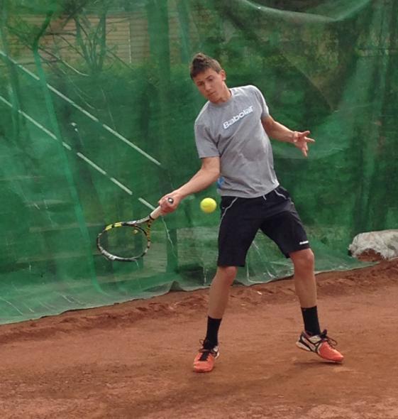 Casper Ruud i aksjon under dagens turnering i Romania