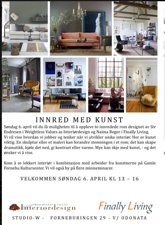 Invitasjon interiør og kunst