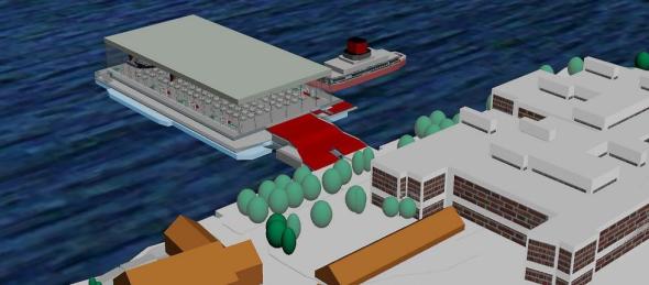 Flåten, slik den vil se ut på vanet. Ill.: GYRO