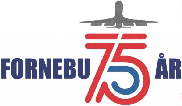 Fornebu 75 år - Logo