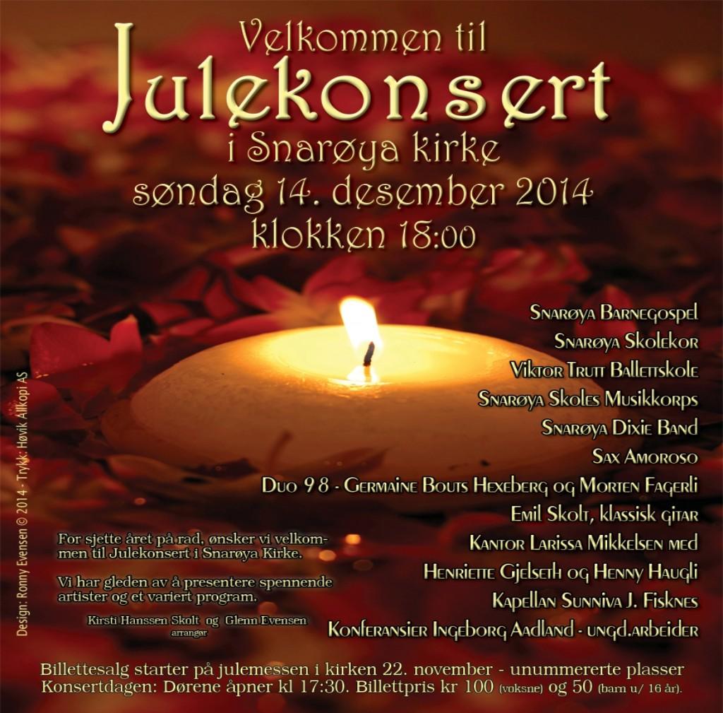 Julekonsert i kirken 2014 - Plakat