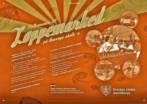 Plakat loppemarked 2015