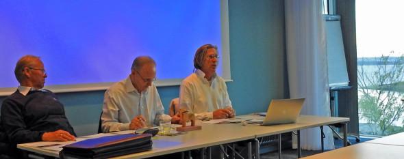 Referent Tom Christensen, ordstyrer Jostein Grosås og styreleder Paal Alme
