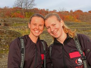 Stipendiatene Sofie Moe Knudsen og Lisbeth Vedå fra Oslofjorden dykkersenter AS