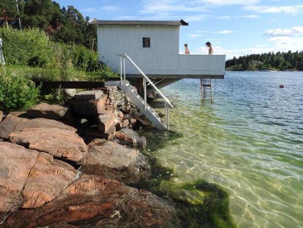 Badetrappen innvies på Kølabryggen. Juli 2016. Foto Paal Alme (1)
