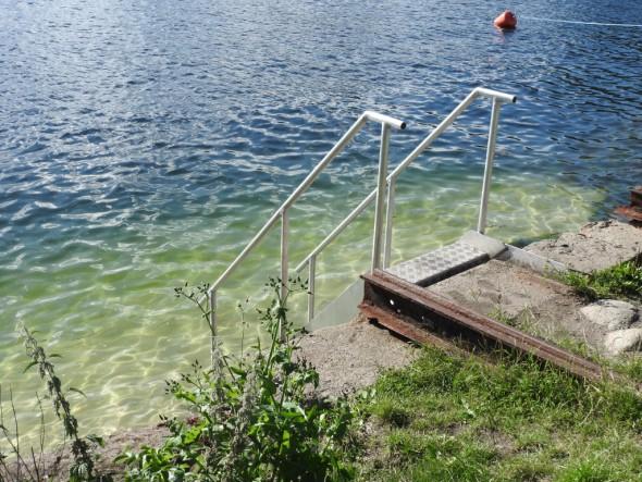 Badetrappen innvies på Kølabryggen. Juli 2016. Foto Paal Alme (3)