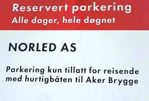Reservert parkering Fornebubåten 2