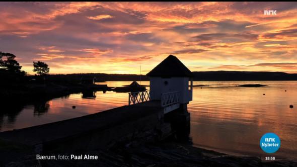 Kongshavn i fantastisk morgensol - nøyaktig en måned før julaften.